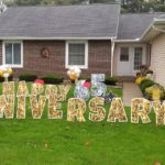 Happy 65th anniversary fun by the yard balloon yard card delivery