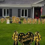 happy 50th anniversary lawn letters south bend